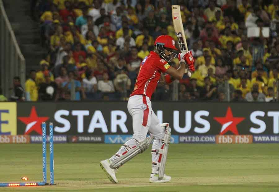 Kings XI Punjabs Lokesh Rahul Gets Dismissed During An IPL 2018 Match Images in Hindi