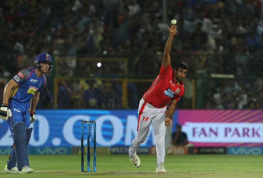 Kings XI Punjabs Ravichandran Ashwin In Action During An IPL 20181 Images