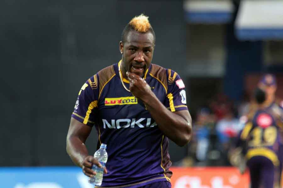 Kolkata Knight Riders Andre Russel1 During An IPL 2018 Images in Hindi