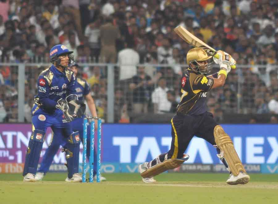 Kolkata Knight Riders Chris Lynn During An IPL 2018 Images in Hindi