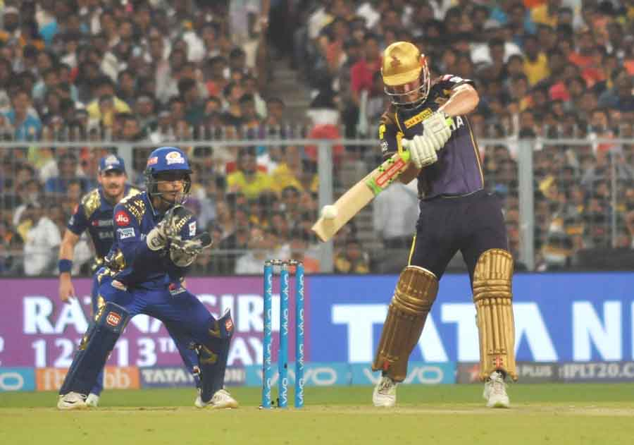 Kolkata Knight Riders Chris Lynn During An IPL Match 2018 Images in Hindi