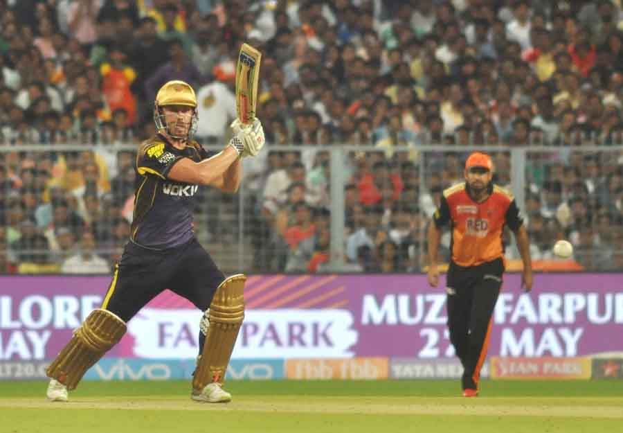 Kolkata Knight Riders Nitish Rana In Action During The Qualifier 2 Match Of IPL 2018 Images in Hindi