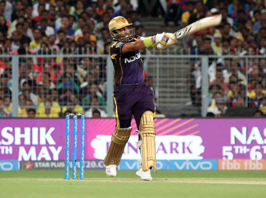 Kolkata Knight Riders Robin Uthappa In Action During An IPL 2018 Images in Hindi