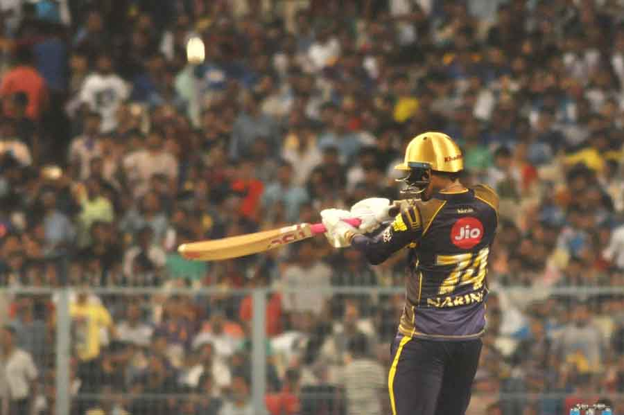 Kolkata Knight Riders Sunil Narine In Action During An IPL 2018 Images