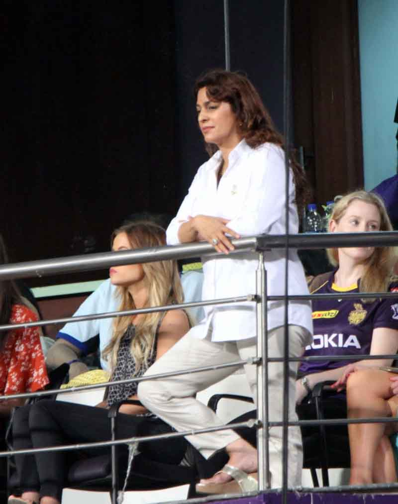 Kolkata Knight Riders Co Owner Juhi Chawla During An IPL 2018 Images