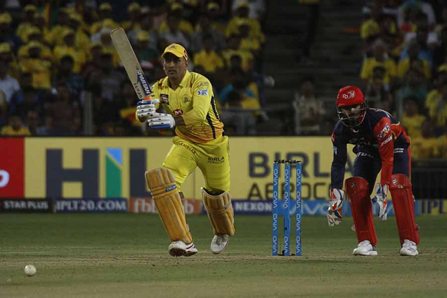 MS Dhoni Of Chennai Super Kings In Action During An IPL 2018 Images
