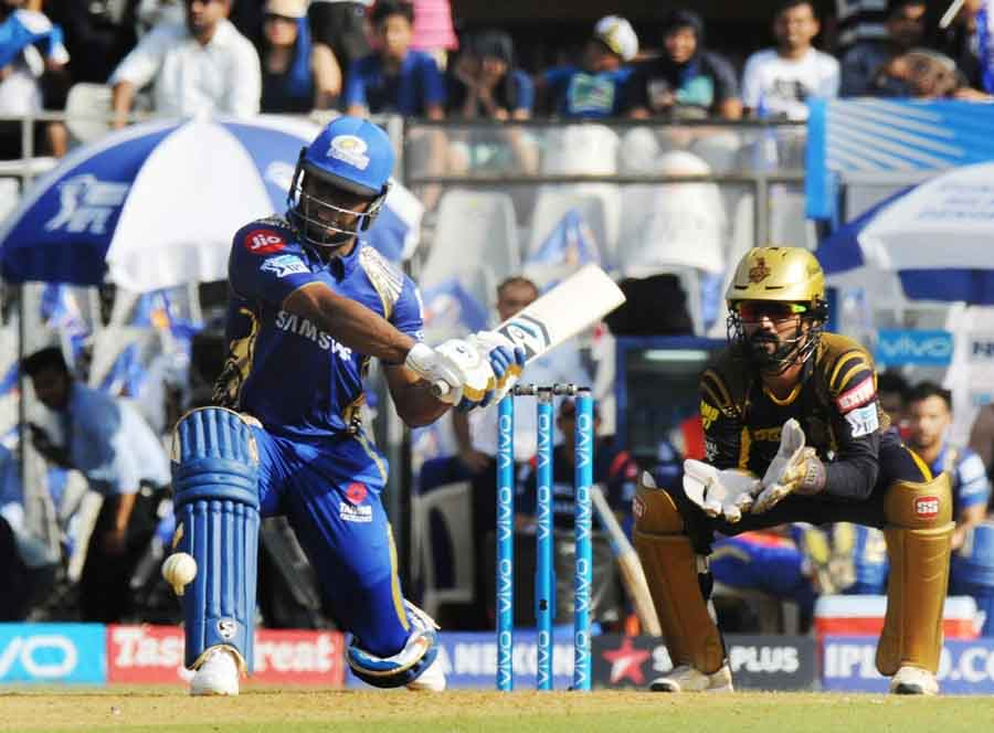 Mumbai Indians Evin Lewis In Action During An IPL 2018 Images in Hindi