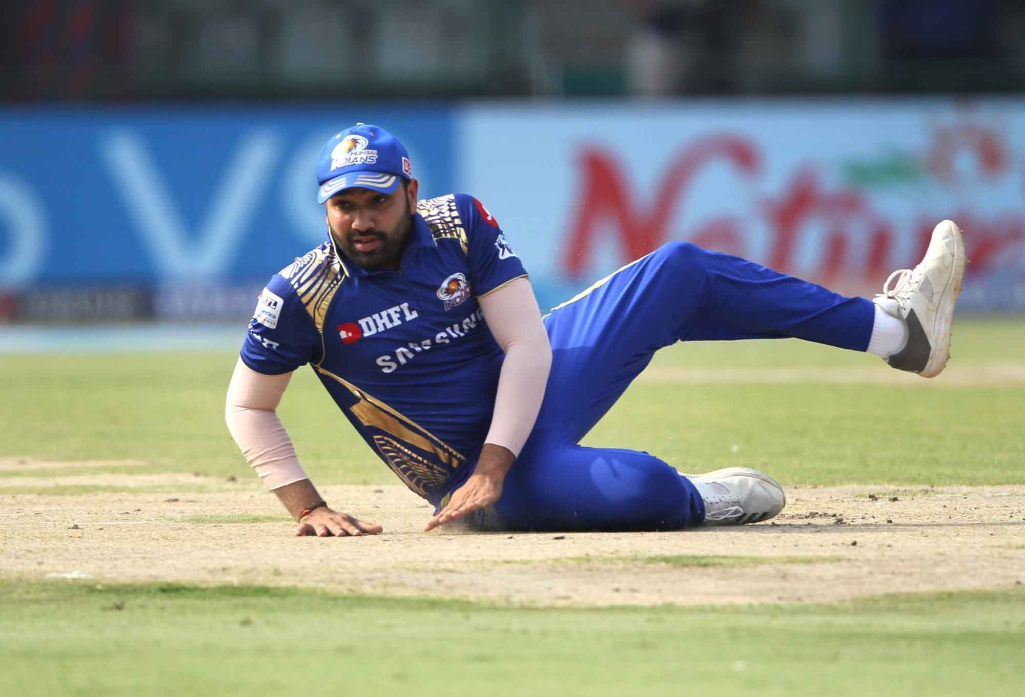 Mumbai Indians Rohit Sharma During An IPL 2018 Match Between Delhi Daredevils And Mumbai Indians At  in Hindi