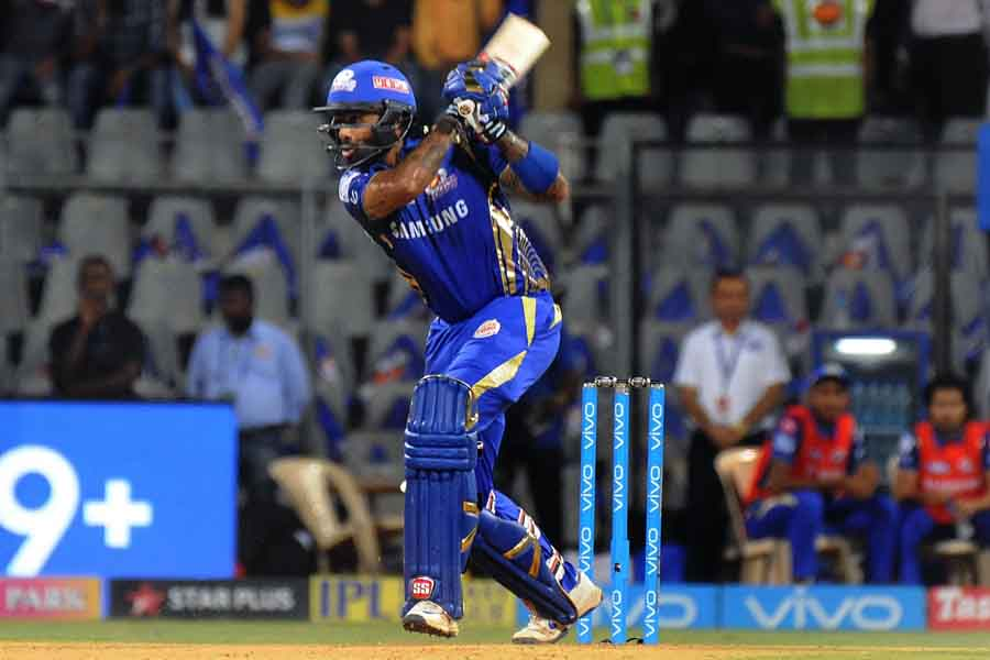 Mumbai Indians Suryakumar Yadav In Action During An IPL 2018 Match Images in Hindi