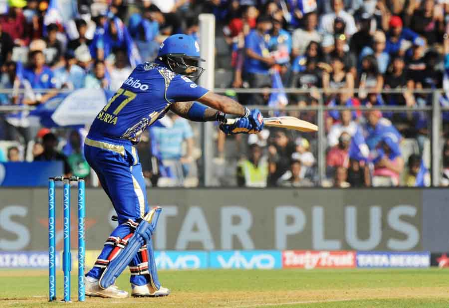 Mumbai Indians Suryakumar Yadav In Action During An IPL Match 2018 Images in Hindi