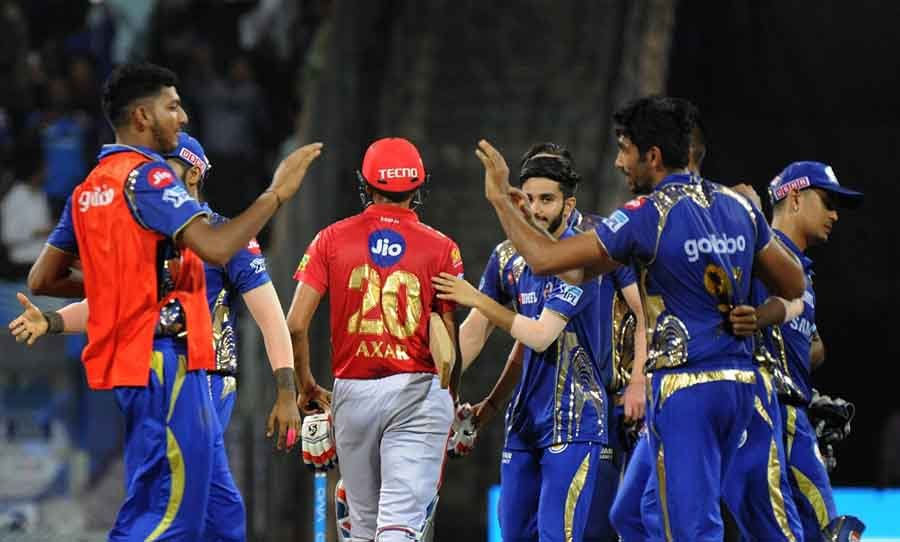 Mumbai Indians Celebrate After Winning An IPL 2018 Match Images in Hindi