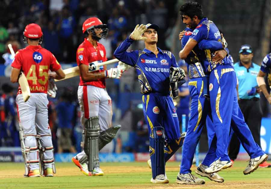 Mumbai Indians Celebrate After Winning An IPL Match 2018 Images