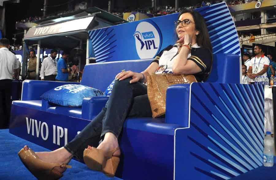 Mumbai Indians Co Owner Nita Ambani During An IPL 2018 Images