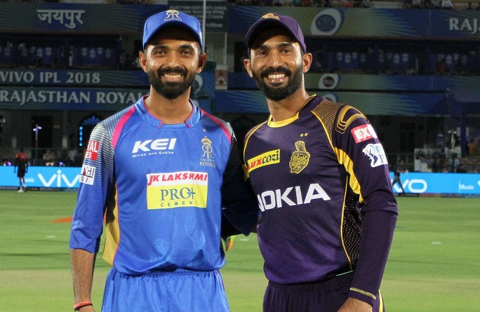 KKR opted to bowl first against Rajasthan Royals