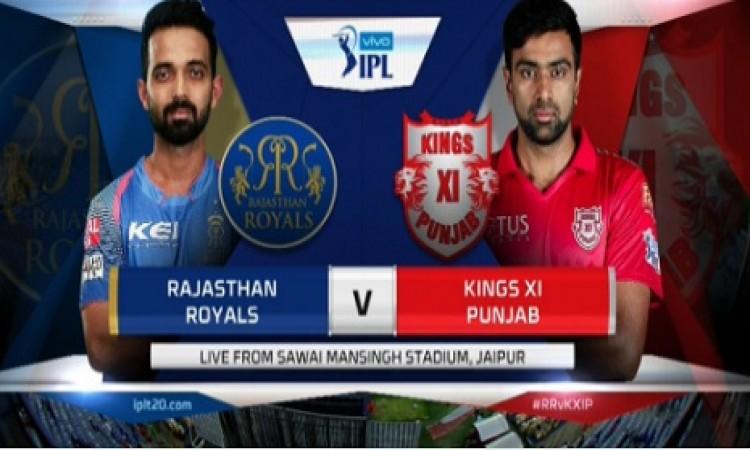 राजस्थान रॉयल्स की टीम ने टॉस जीतकर पहले बल्लेबाजी करने का फैसला किया BREAKING Images
