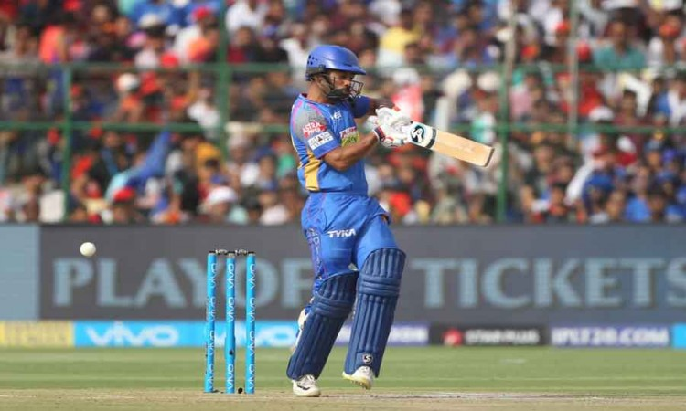 Rahul Tripathi Of Rajasthan Royals In Action During An IPL 2018 Match Between Rajasthan Royals And R