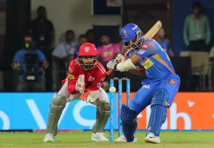 Rajasthan Royals Ajinkya Rahane In Action During An IPL 2018 Images in Hindi