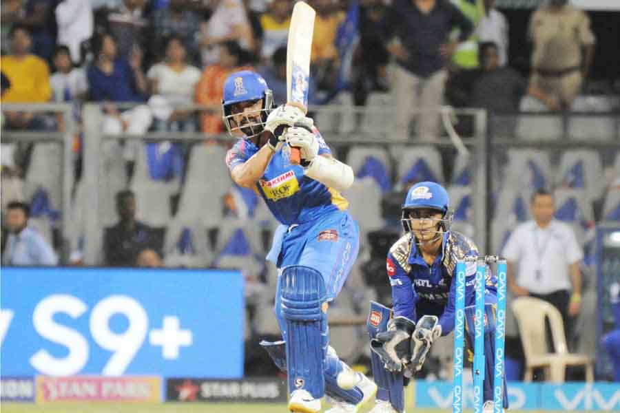 Rajasthan Royals Ajinkya Rahane In Action During An IPL 20181 Images in Hindi