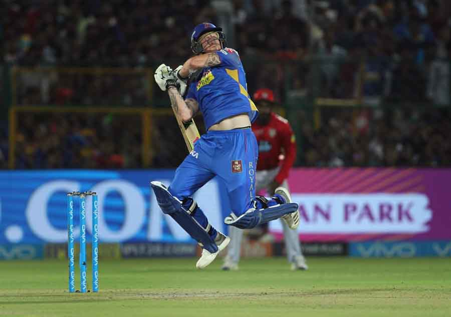 Rajasthan Royals Ben Stokes In Action During An IPL Match 2018 Images in Hindi