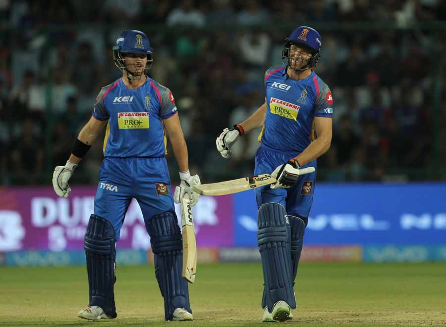 Rajasthan Royals Jos Buttler Celebrates His Half Century During An IPL 2018 Images