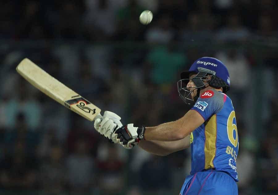 आईपीएल 2018 के दौरान राजस्थान रॉयल्स जोस बटलर एक्शन में फोटो