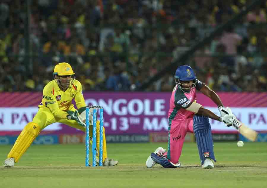 Rajasthan Royals Sanju Samson In Action During An IPL 2018 Images in Hindi