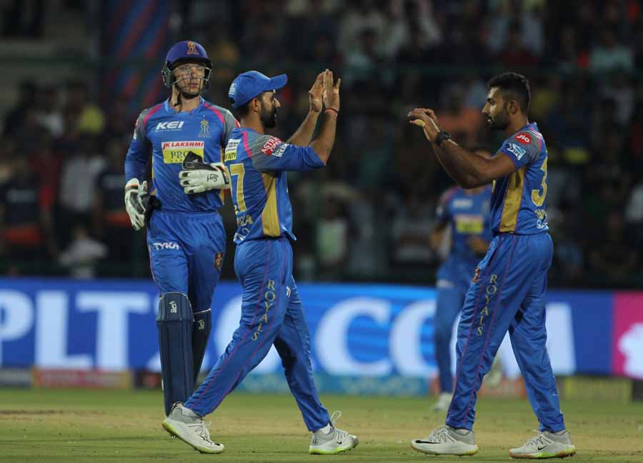 Rajasthan Royals Shreyas Gopal Celebrates Fall Of Prithvi Shaws Wicket Images