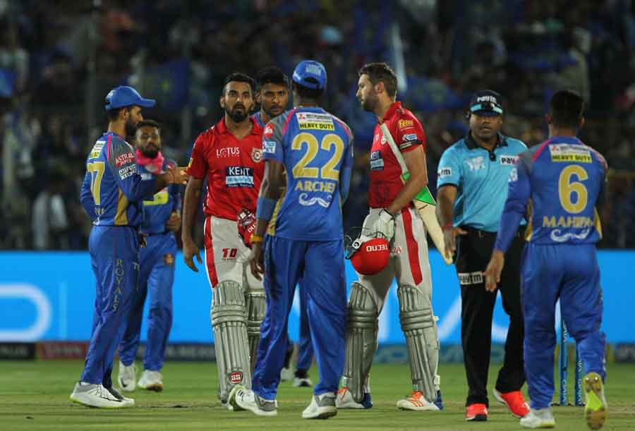 Rajasthan Royals Celebrate After Winning An IPL 2018 Images
