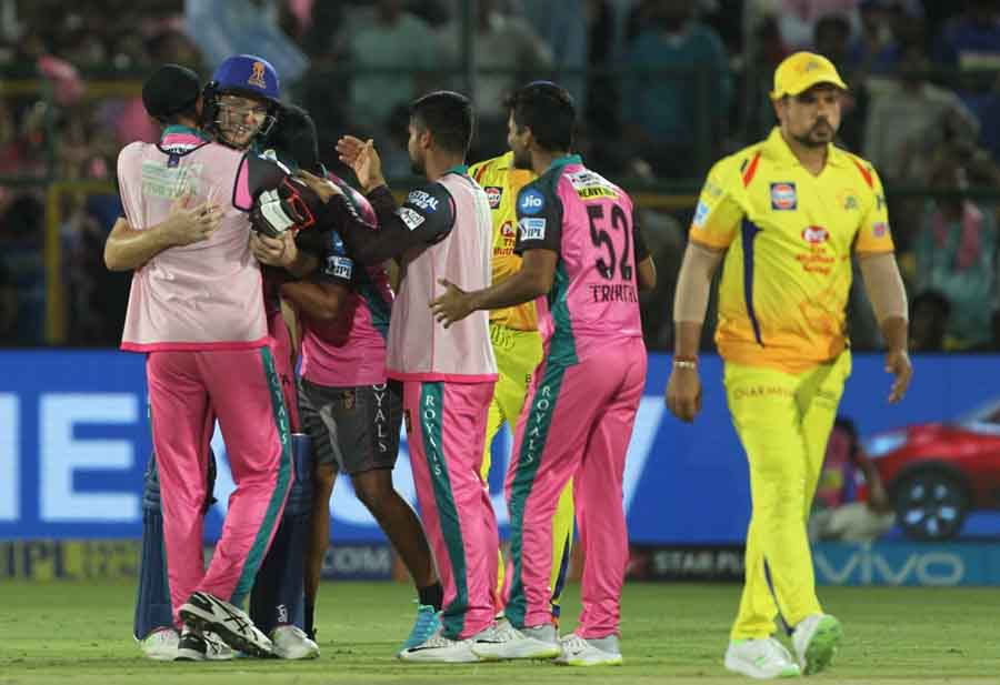 Rajasthan Royals Celebrate After Winning An IPL Match 2018 Images