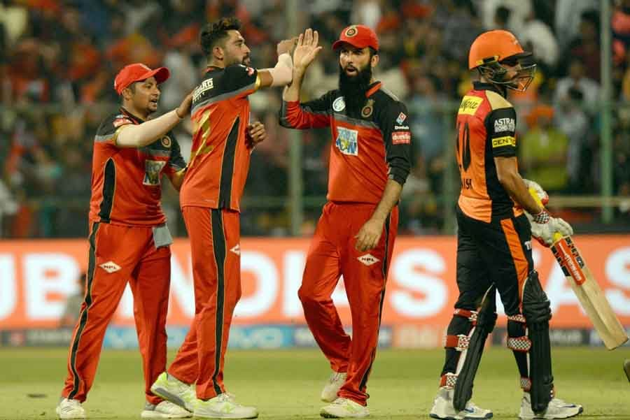 Royal Challengers Bangalore Players Celebrate After Winning An IPL 2018 Match Images