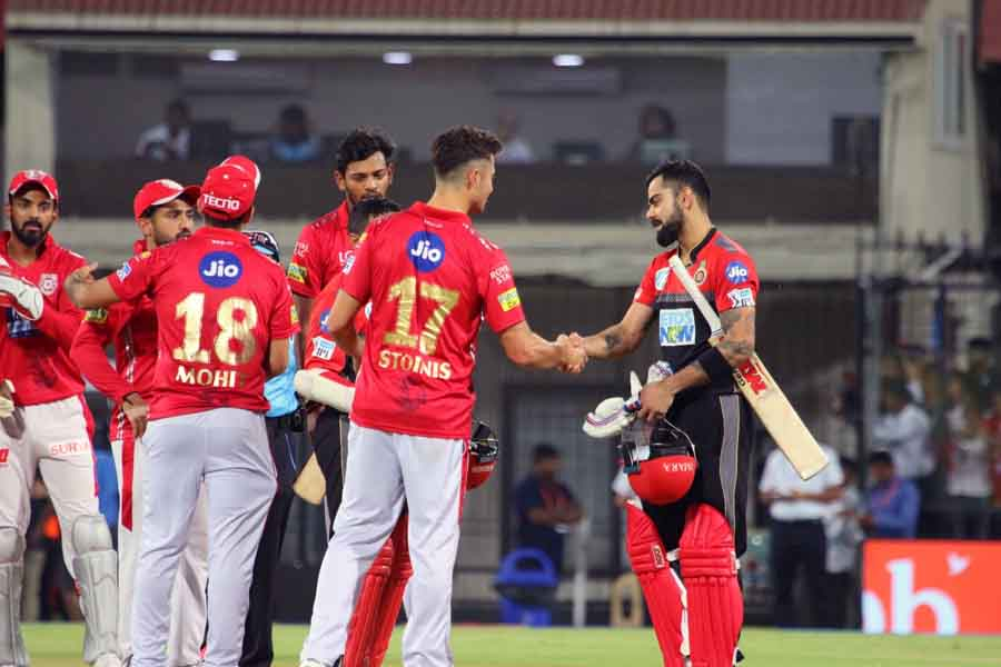 Royal Challengers Bangalores Virat Kohli After Winning An IPL 2018 Match Against Kings XI Punjab At  in Hindi