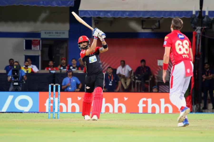 Royal Challengers Bangalores Virat Kohli In Action During An IPL 2018 Match Images in Hindi
