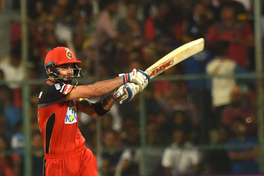Royal Challengers Bangalores Virat Kohli In Action During An IPL 2018 Images