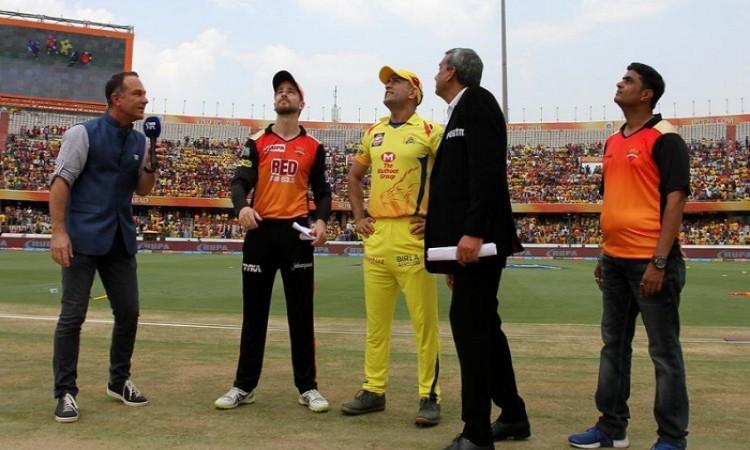 IPL play-offs: CSK to field vs SRH
