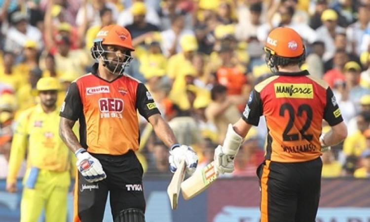 गब्बर और विलियमसन की शानदार पारी के बल पर SRH ने चेन्नई सुपरकिंग्स को दिया 180 रनों का टारगेट Images