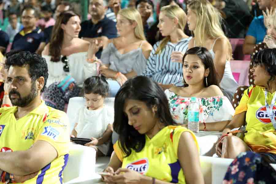 Sakshi Dhoni, Wife Of Chennai Super Kings Captain MS Dhoni During An IPL 20181 Images in Hindi