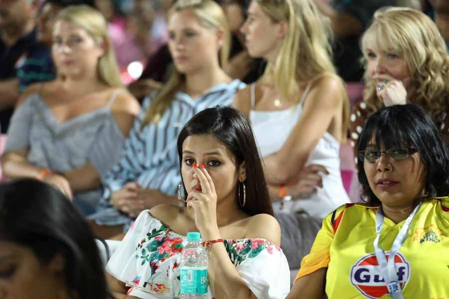 Sakshi Dhoni, Wife Of Chennai Super Kings Captain MS Dhoni During An IPL Match 2018 Images