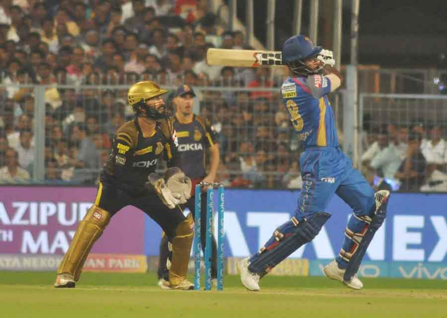 Sanju Samson Of Rajasthan Royals In Action During The Eliminator Match Of IPL 2018 Match Images in Hindi