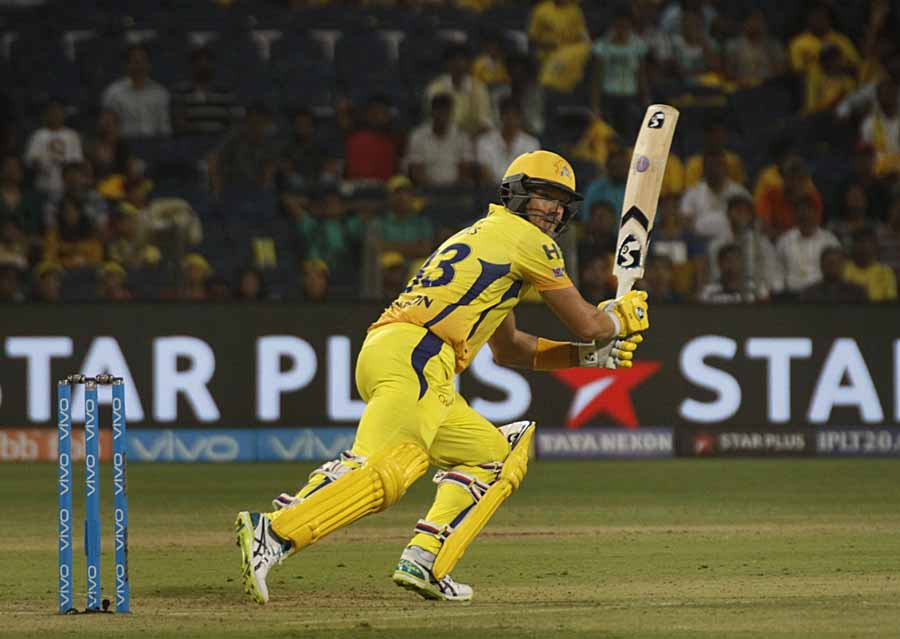 Shane Watson Of Chennai Super Kings In Action During An IPL 2018 Images in Hindi