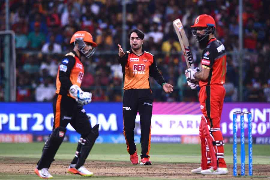 Sunrisers Hyderabad Rashid Khan During An IPL 2018 Match Images