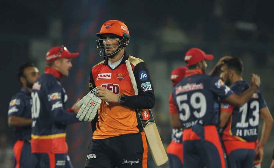 Sunrisers Hyderabads Alex Hales Walks Back To The Pavilion After Getting Dismissed During An IPL 201 in Hindi