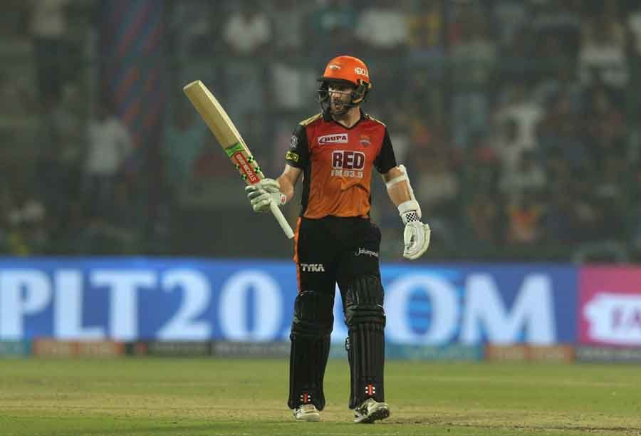 Sunrisers Hyderabads Kane Williamson Celebrates His Half Century During An IPL 2018 Images