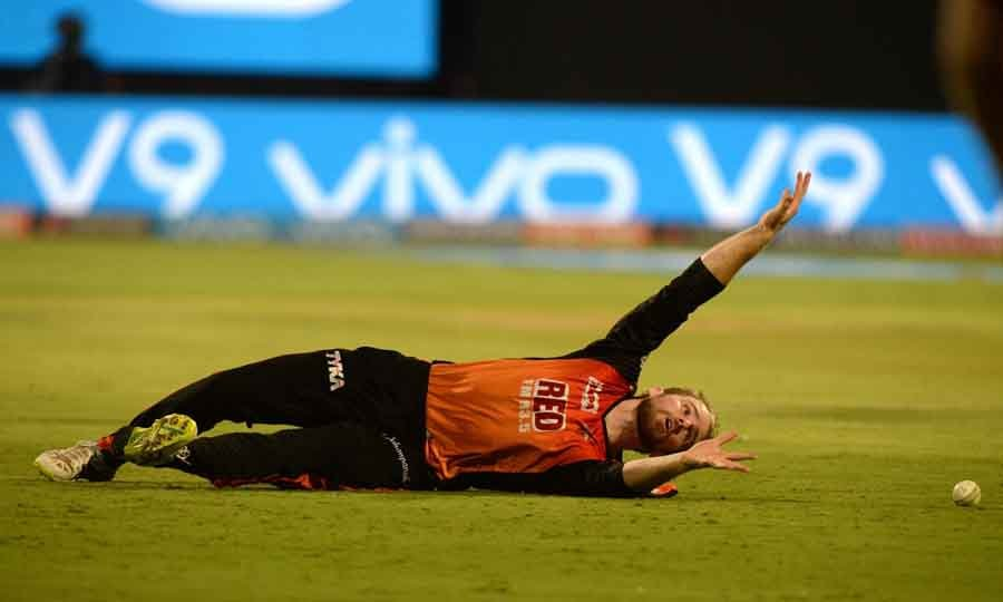 Sunrisers Hyderabads Kane Williamson During An IPL 2018 Match Images