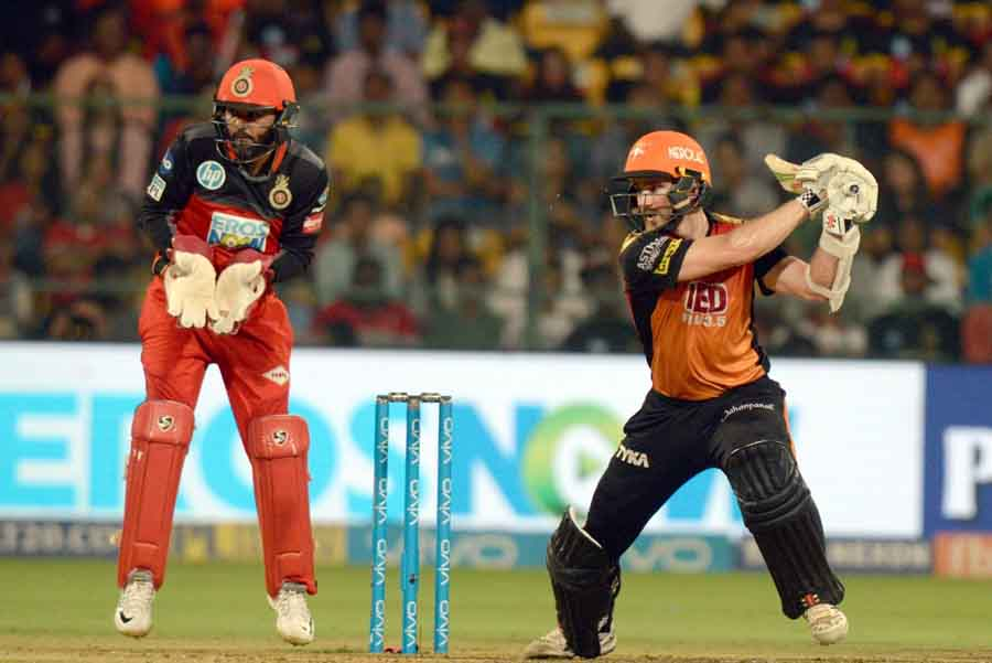 Sunrisers Hyderabads Kane Williamson In Action During An IPL 2018 Match Images