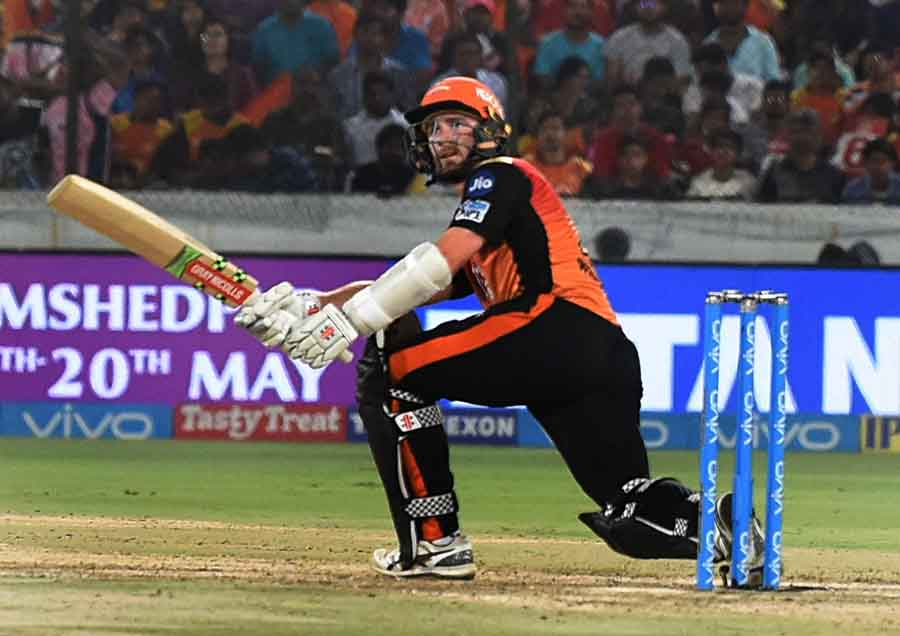 Sunrisers Hyderabads Kane Williamson In Action During An IPL 2018 Match1 Images