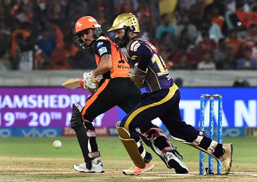 Sunrisers Hyderabads Manish Pandey In Action During An IPL Match 2018 Images