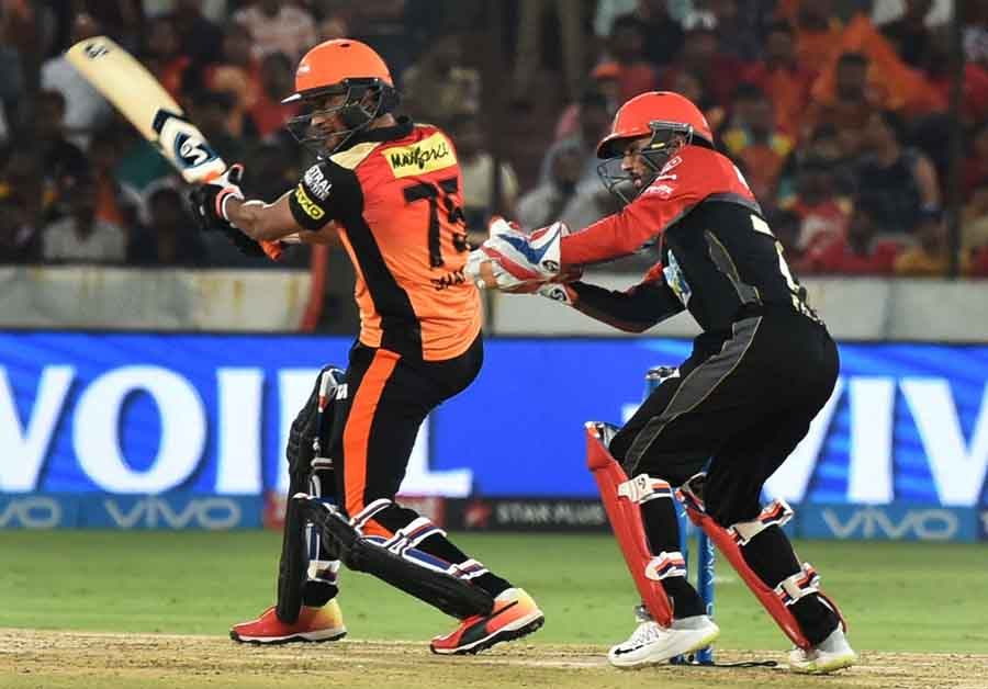 Sunrisers Hyderabads Shakib Al Hasan In Action During An IPL 2018 Images