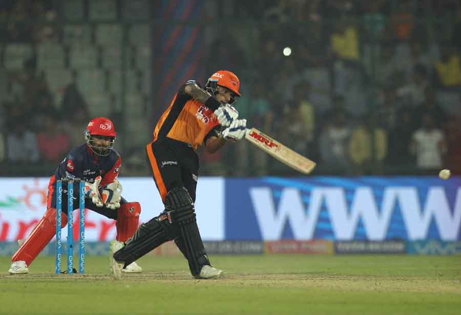 Sunrisers Hyderabads Shikhar Dhawan In Action During An IPL 20181 Images in Hindi