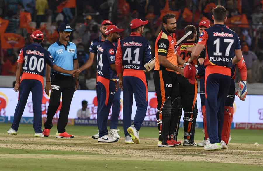 Sunrisers Hyderabads Yusuf Pathan After Winning An IPL 2018 Images
