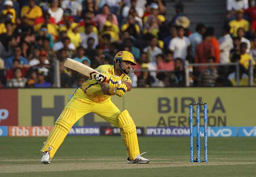 Suresh Raina Of Chennai Super Kings In Action During An IPL 2018 Images in Hindi